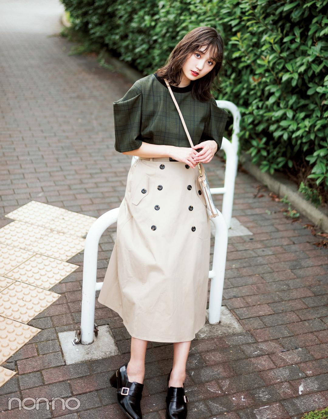 【2018秋冬スカートコーデ】ロングスカート×ブラウス