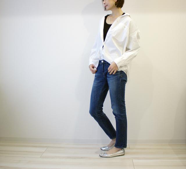 UNIQLOのデニムオーバーシャツで40代のエフォートレスコーデ_1_10