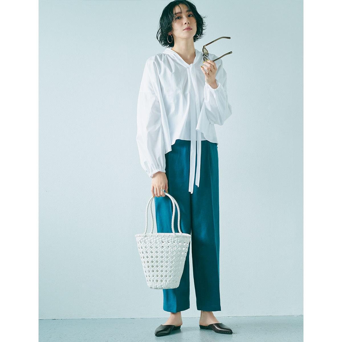休日は大人の 編みバッグ がちょうどいい1