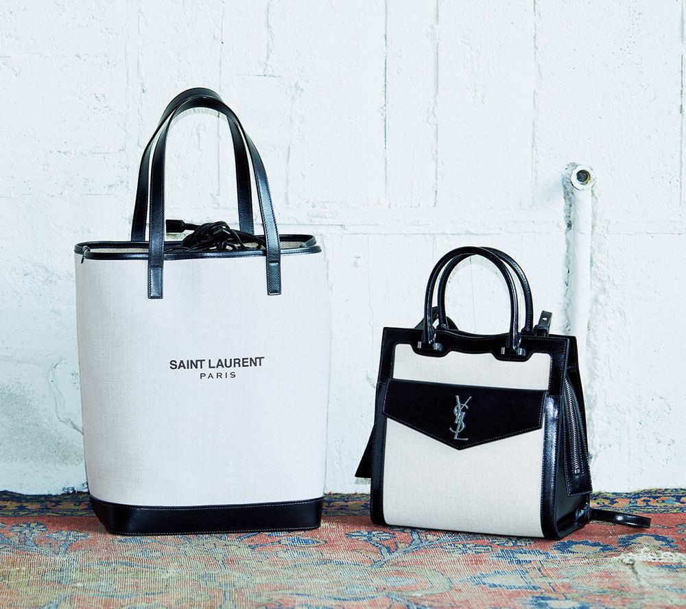 SAINT LAURENT「アップタウン」バッグ、「ショッピング・テ ディ」バッグ