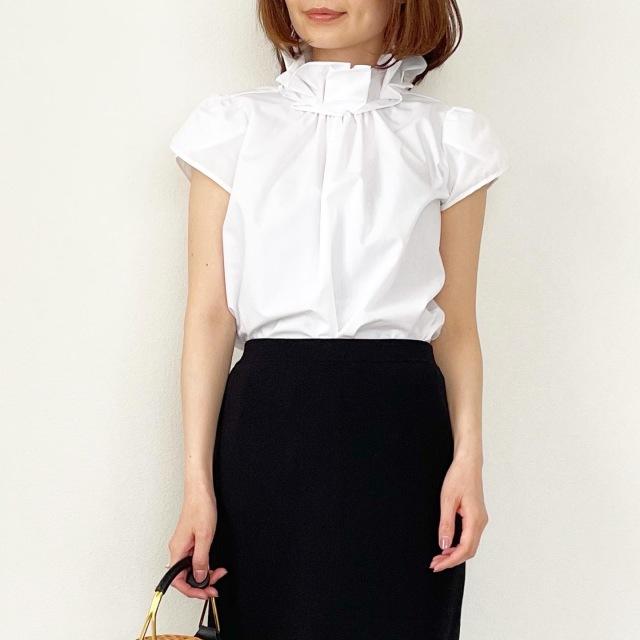 春の白シャツ4スタイル全てお見せします!【tomomiyuコーデ】_1_8