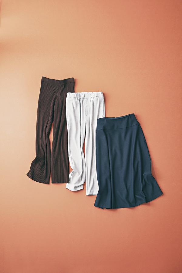 ファッション あったか素材のスカート&パンツ