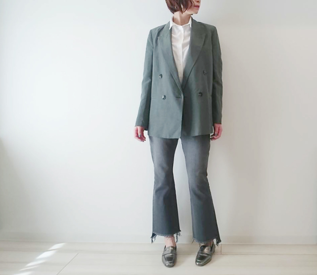 #ZARA のジャケットで春の大人ニュアンスカラーコーデ♡_1_2