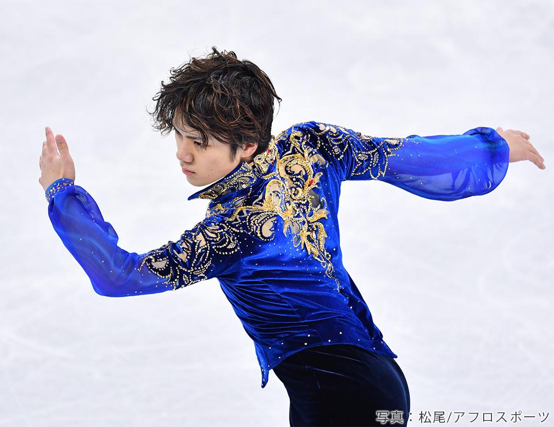 2018年平昌オリンピック男子FS演技中の宇野昌磨選手