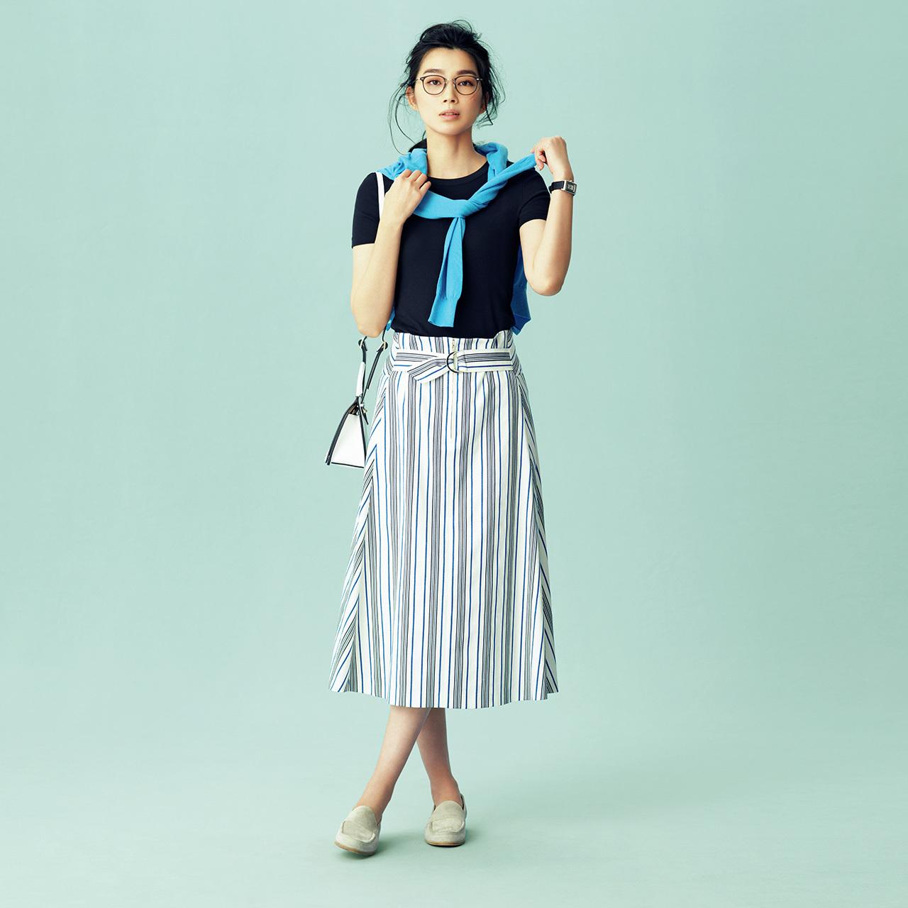 大人なシャープさが魅力の「ストライプスカート」 五選_1_1-1