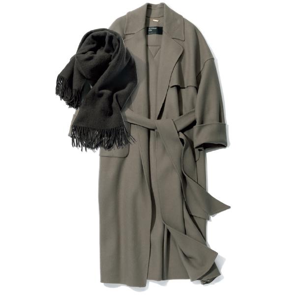 カオス表参道のコートとストール
