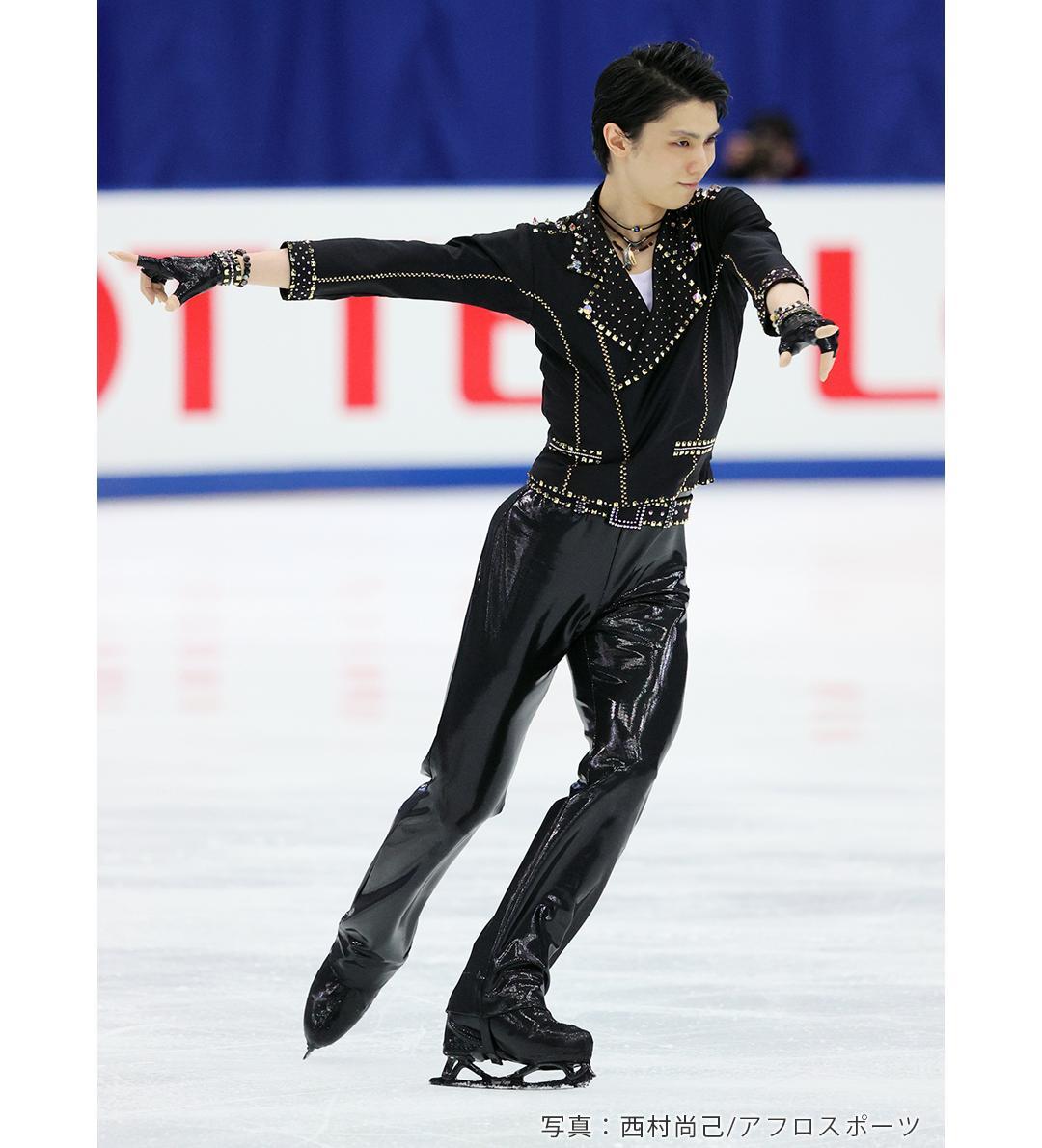 2020年全日本選手権でショートプログラム「Let Me Entertain You」を披露する羽生結弦選手