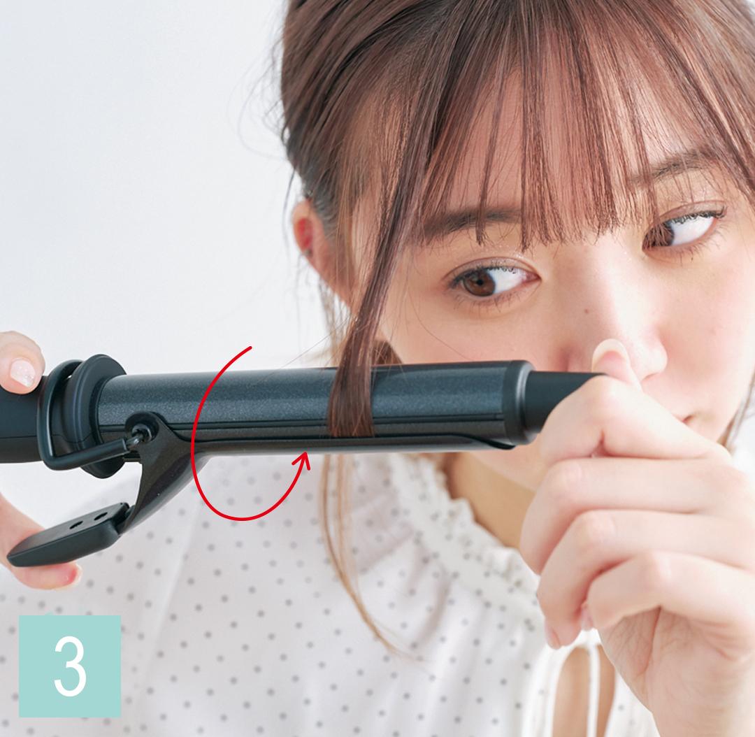 巻き髪アレンジ♡ ミディアムさんの仕込み技を超ていねい解説!_1_3-3
