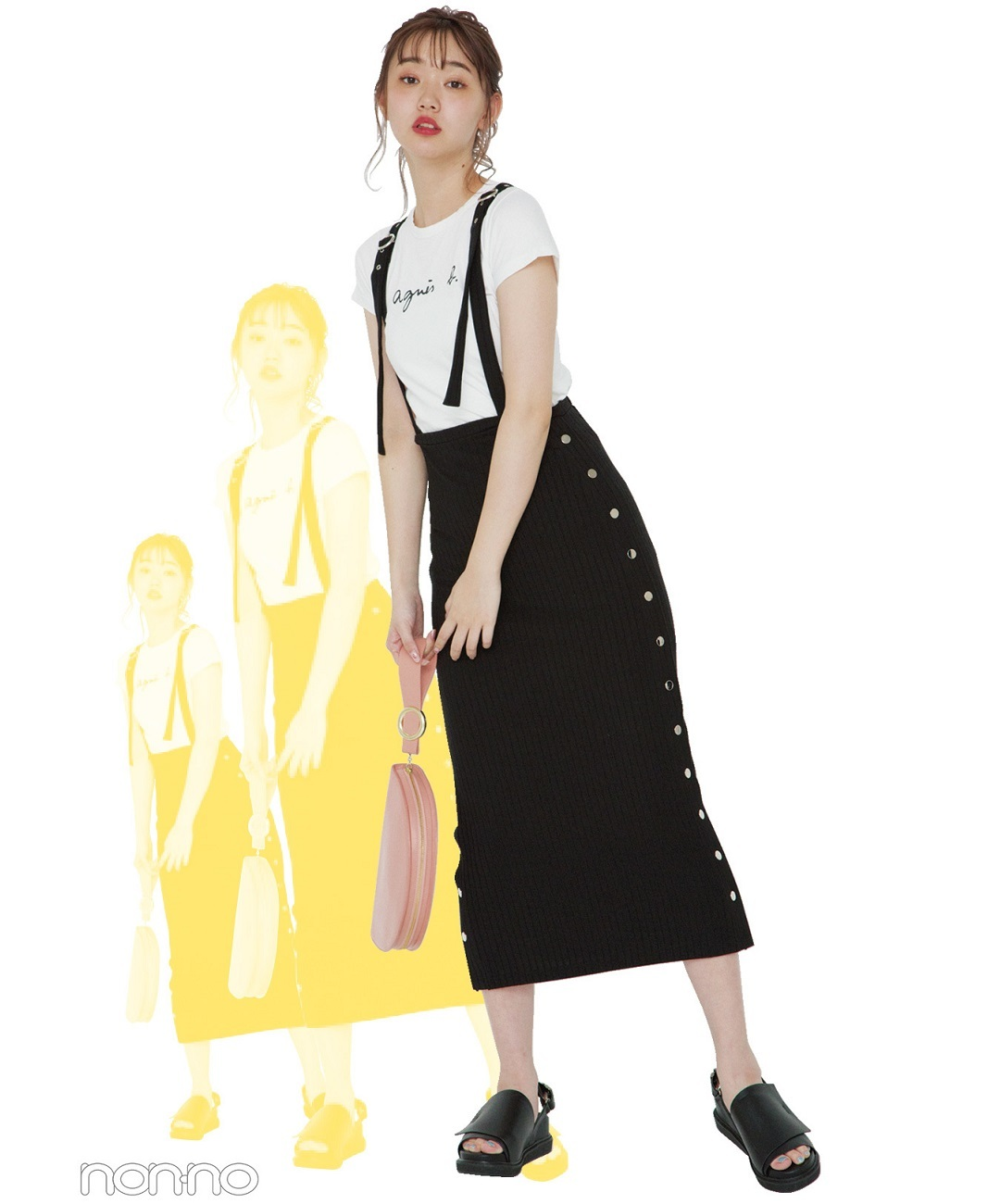 【夏のTシャツコーデ】江野沢愛美は基本カジュアルが好き。そこに女っぽさを少しMIX♡