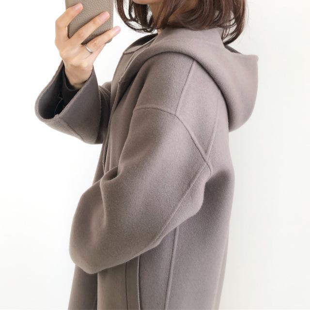 『GU』ワイドリブVネックカーディガン着回し【tomomiyuコーデ】_1_4