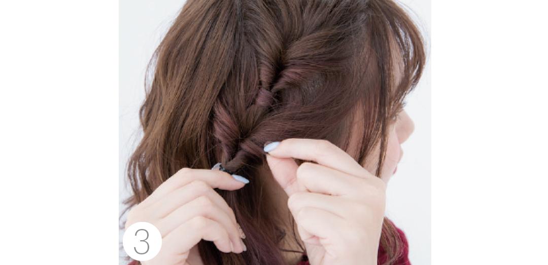 ボブならアシメくるりんぱ★クリパのときのヘアアレンジ、コレでモテモテ♡ _1_4-4