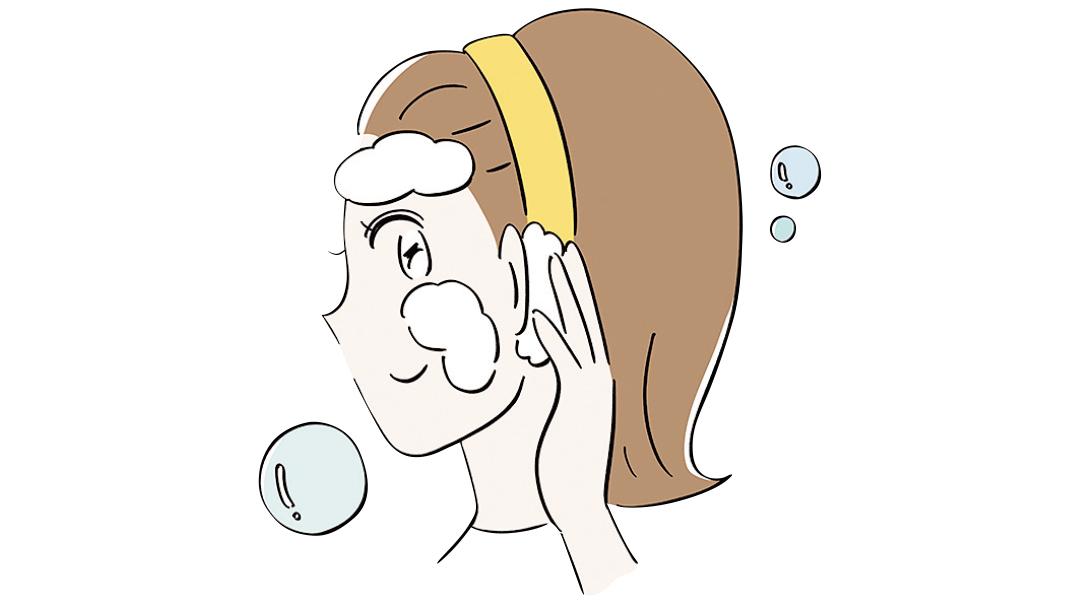 耳の裏は皮脂だまりに注意