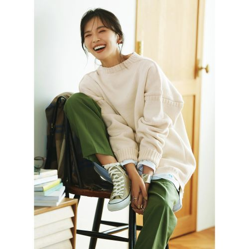 Le Tricoteur トラディショナル ウールガンジーセーターUNISEX ¥26,950(オフホワイト)