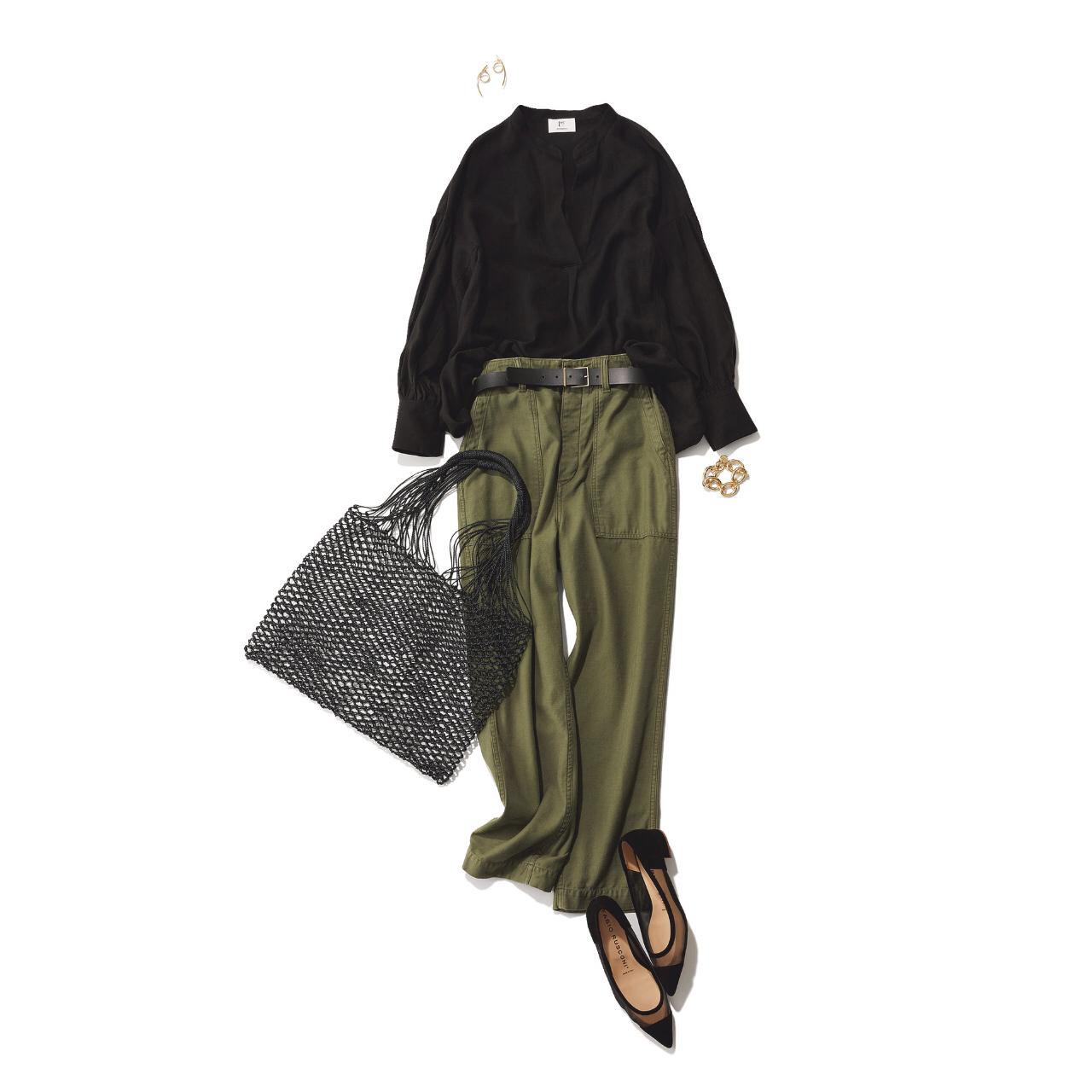 【真夏こそ映える黒コーデ】重たく見えず、シックに決まるアラフォーの黒コーデまとめ|40代ファッション_1_10