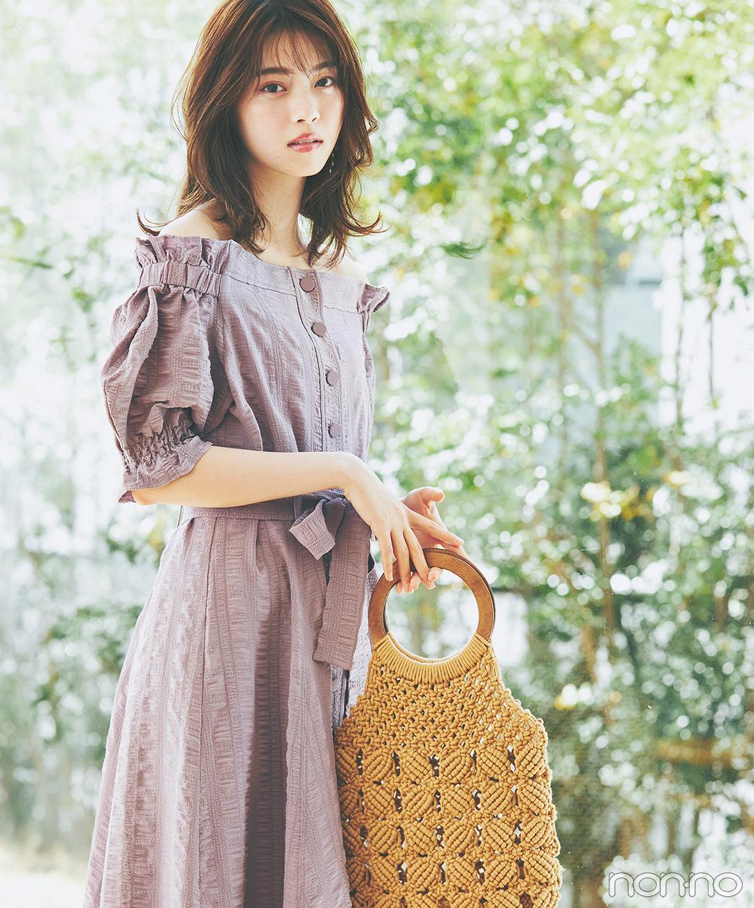 西野七瀬は可愛げ満載のワンピで夏のヒロイン♡【毎日コーデ】