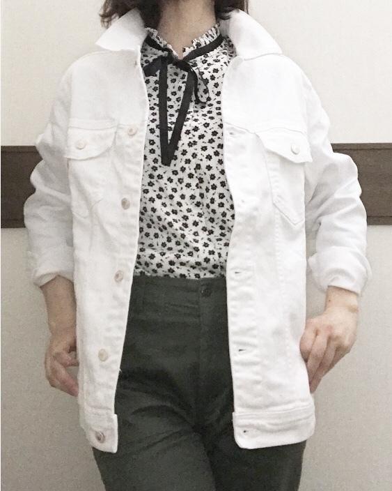 気になるBIGなデニムジャケット。私が選んだのは「men's」の「ホワイト」です!_1_3