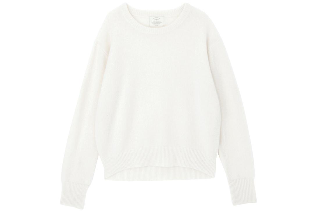 2019秋冬トレンド★ ビッグ白ニットを10倍可愛く着るアイディア_1_7-3
