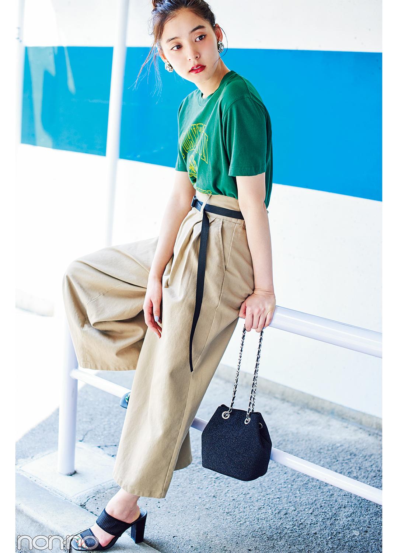 新木優子のカレッジTシャツ着回し★夏にぴったりの楽しげコーデBEST3!_1_3-1