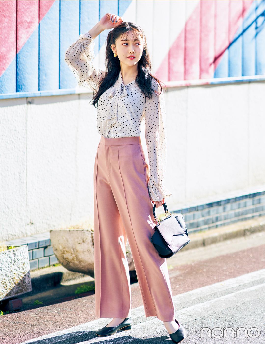 新木優子はトレンドのカラーパンツで大人可愛く!【毎日コーデ】_1_2-3