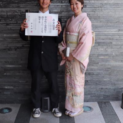 子どもの節目の行事は和装で、春らしく大人ピンクのお着物を_1_2-1