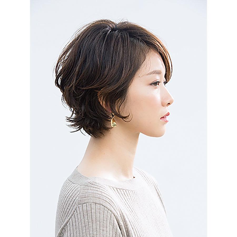 横から見た 40代人気ショートヘアスタイル6位の髪型
