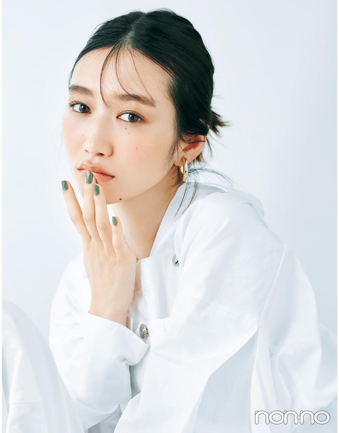 岡本夏美のニュアンス盛れる眉のつくりかたモデルカット1-1