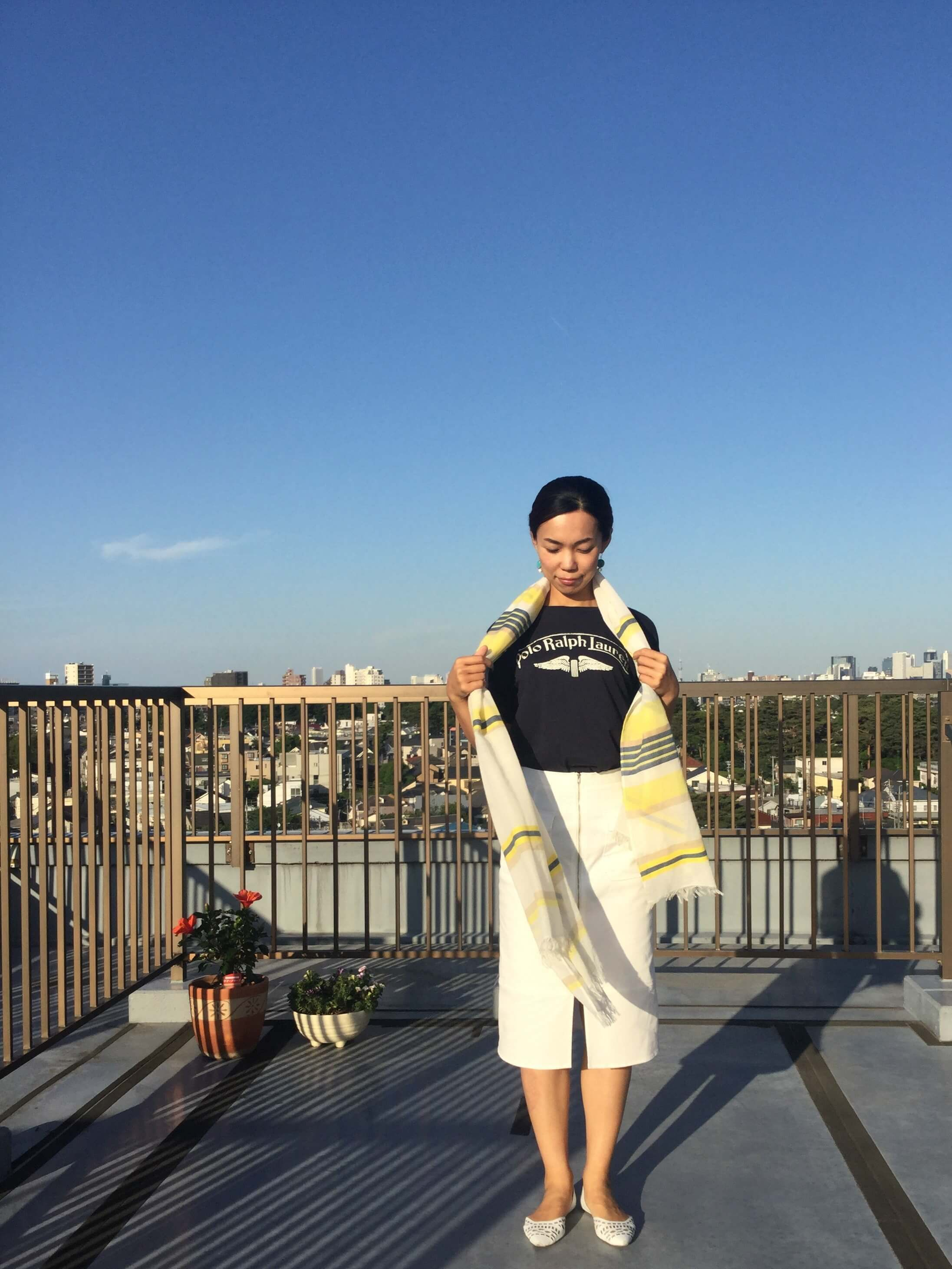 私の「春夏のストール」アレンジ ☆彡Part2 _1_1-6