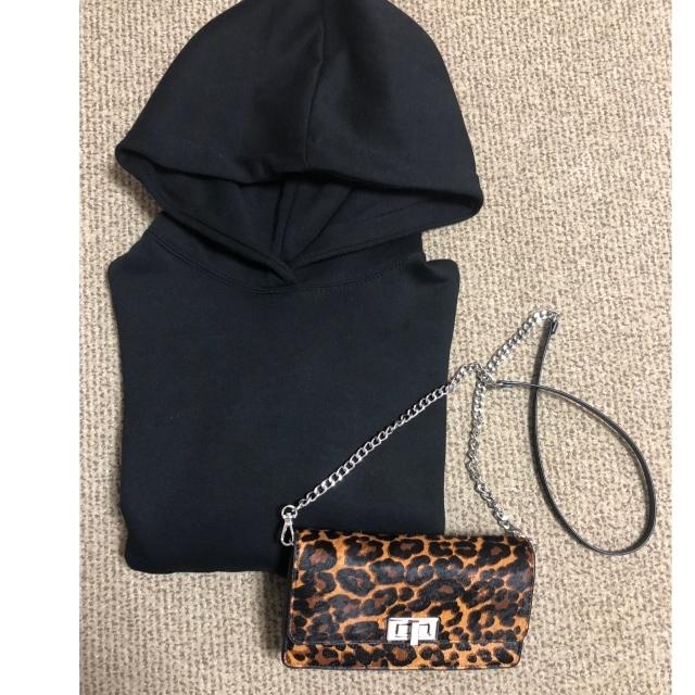 ファッション ZARAのレオパード柄ミニバッグ