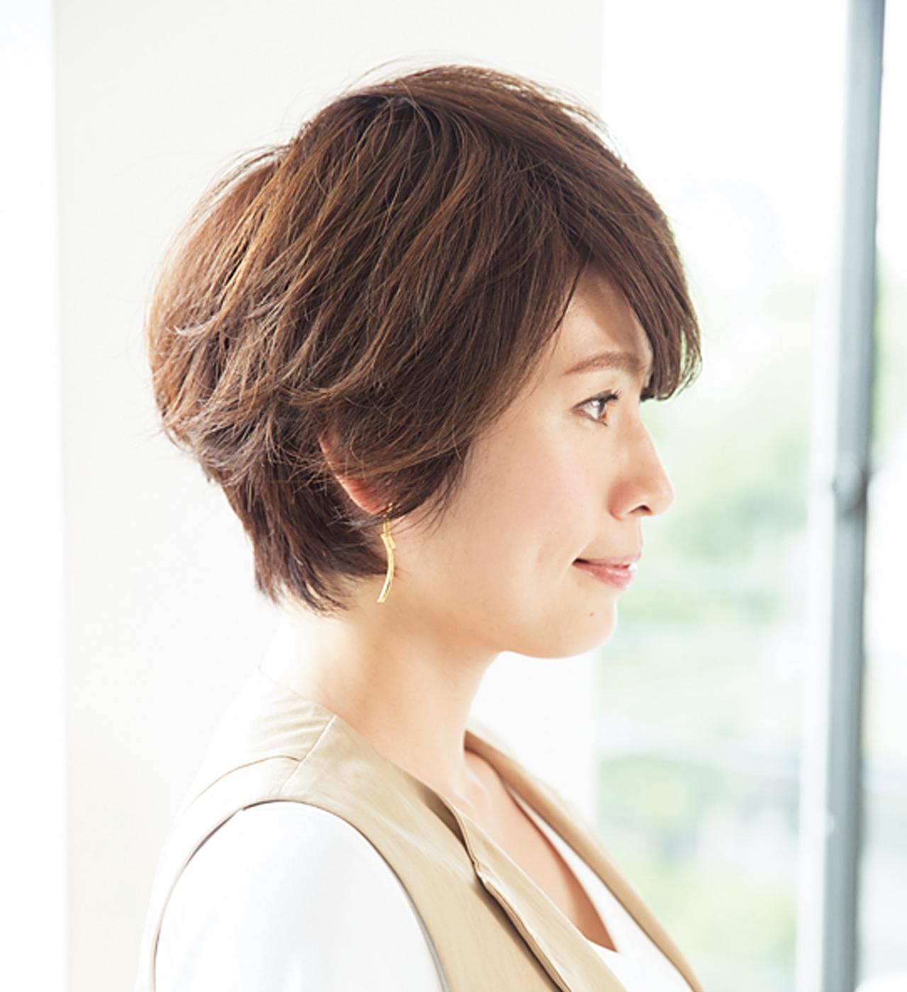硬く・太く・多い髪でも柔らかな印象のショートに【40代のショートヘア】_1_2