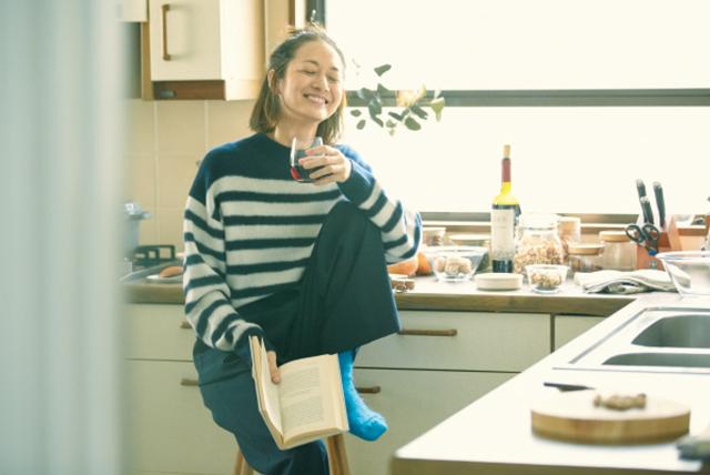 笑顔の富岡佳子