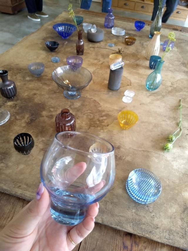 GRICE*お米が溶け込んだ青いガラス ~花岡央 glass展にて~_1_4