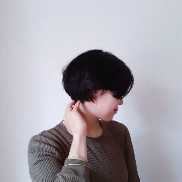 梅雨に向け髪型を一新!新しい髪型は前下がりショートボブ_1_4