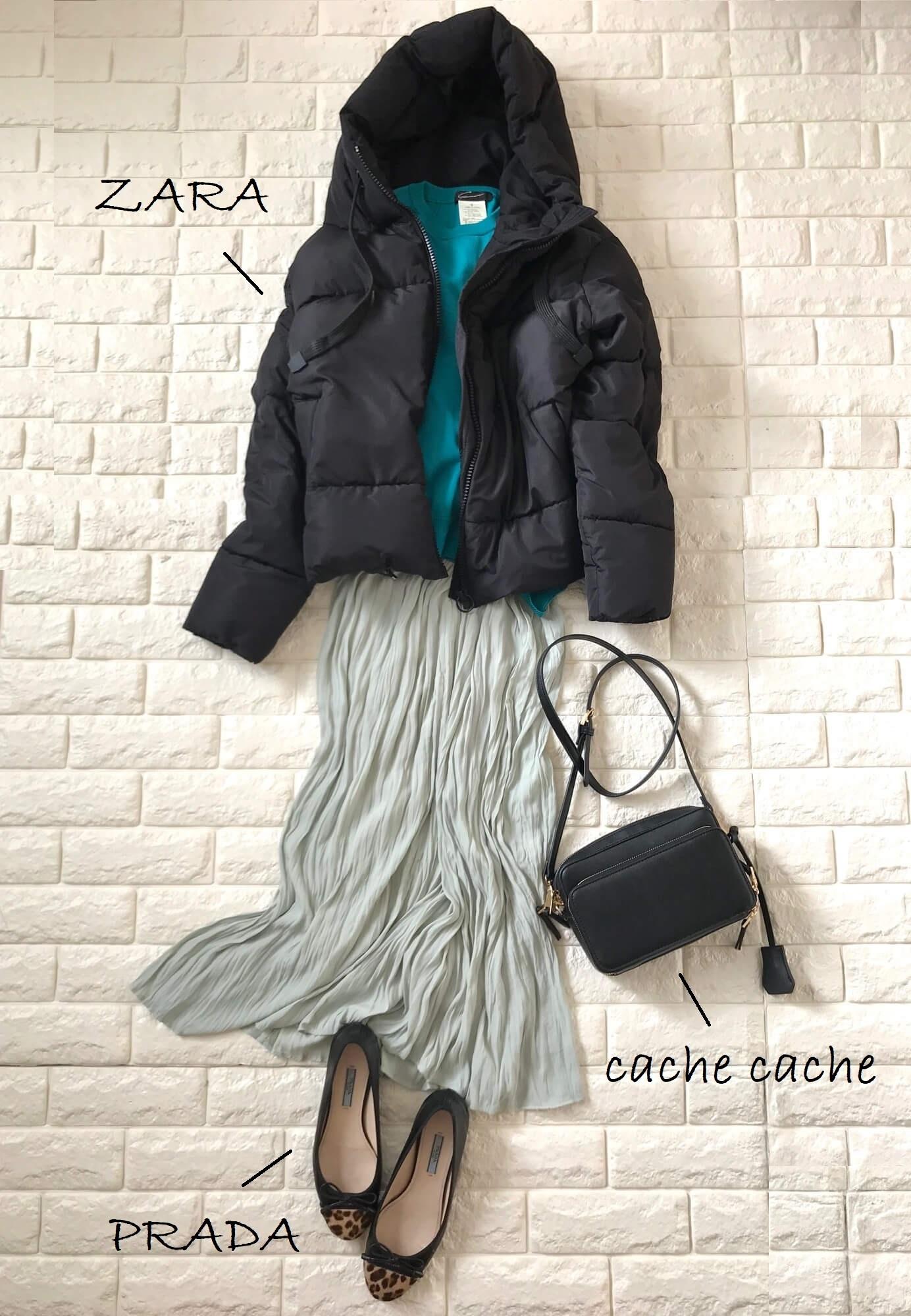 真冬コーデの差し色はコレ!グリーンに注目|40代 2020冬ファッション_1_14