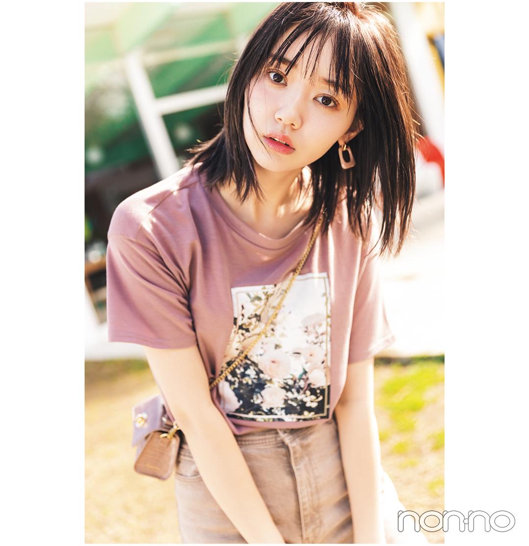 江野沢愛美が着るFLOWERフォトTコーデ25