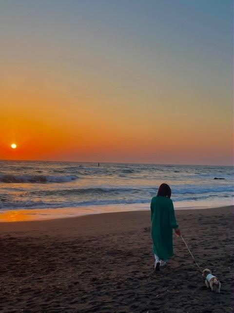 海 夕焼け 夕焼けの海 湘南 砂浜