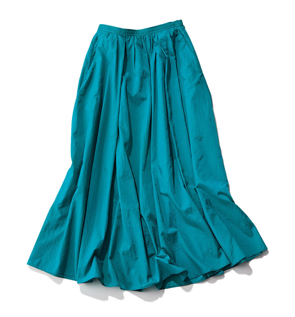 グリーンフレアスカート