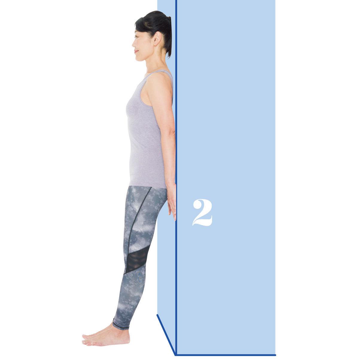 頭を正しい位置に戻す1:頭を後ろに戻すエクササイズ2