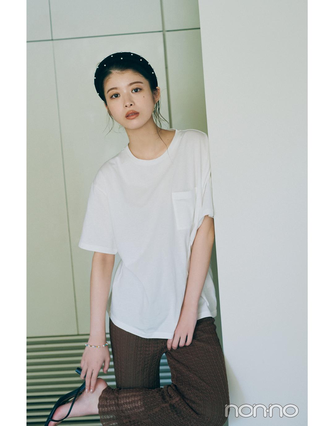 馬場ふみかのTシャツ美人の作り方コーデ8