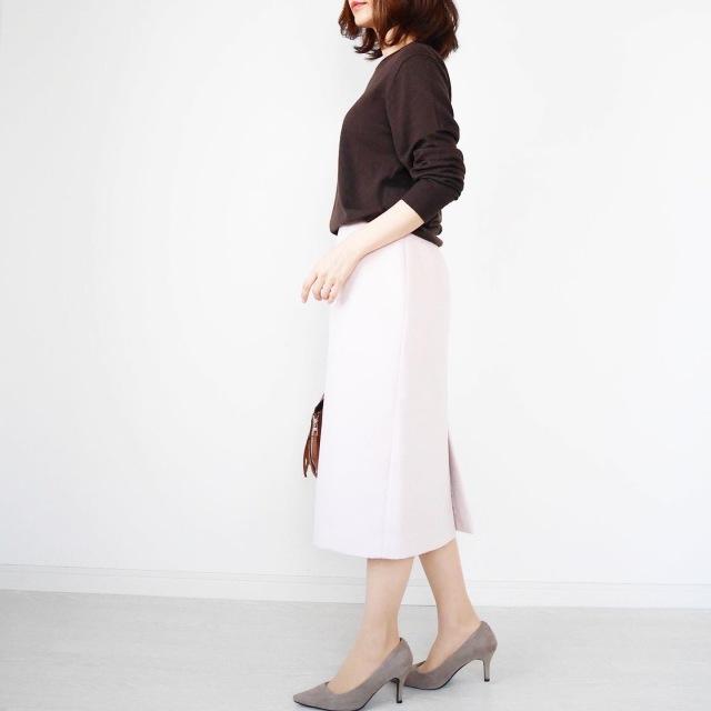 大人が似合う淡ピンク♡美シルエットタイトスカート【tomomiyuコーデ】_1_4