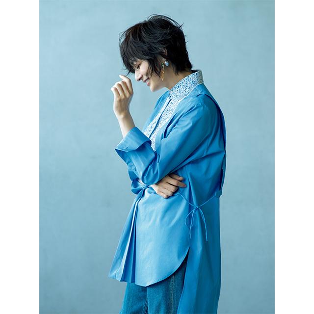 富岡佳子 新たなフェミニンを予感させるレースとブルーの出会い