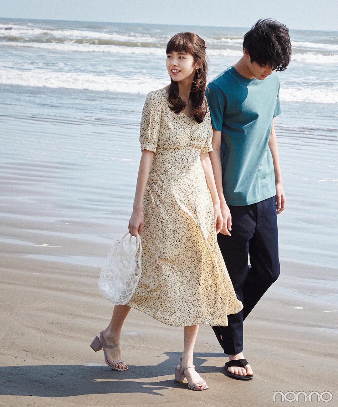 デートコーデならロングワンピースの出番! 海辺で着れば可愛さ満点♡【毎日コーデ】_1_1