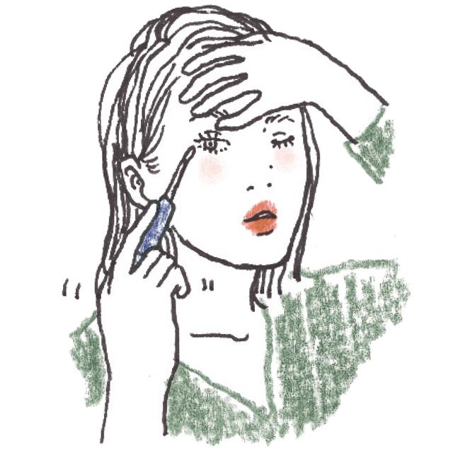 まつ毛美容液は目のきわのきわに塗る
