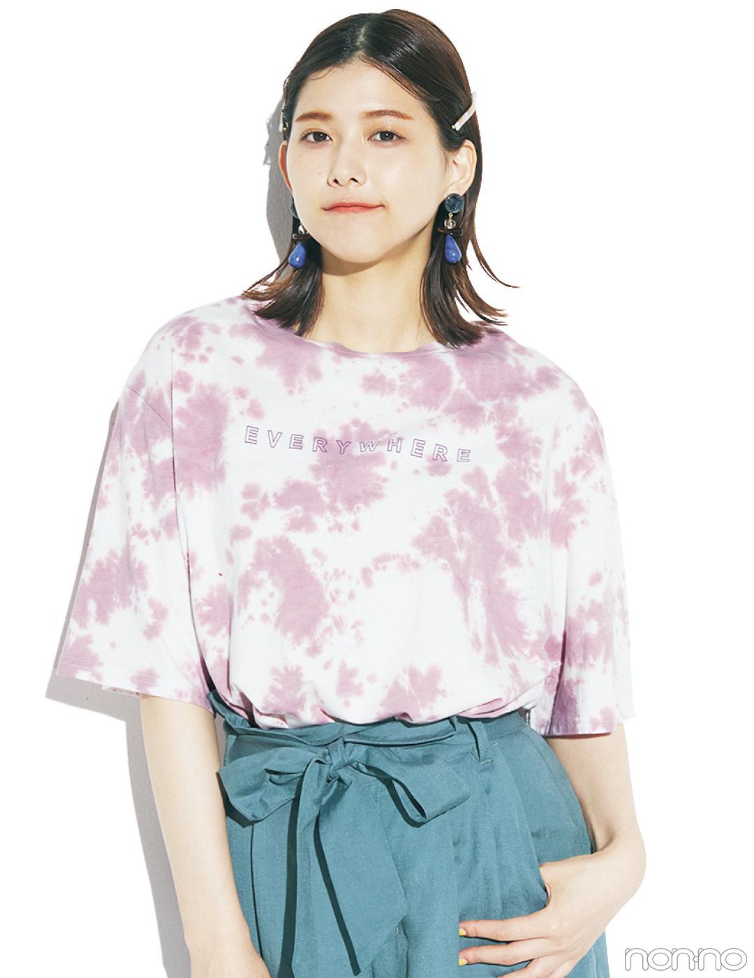渡邉理佐の毎日Tシャツコーデ 6/23 誕生石・ルビー・イン・ゾイサイトの日