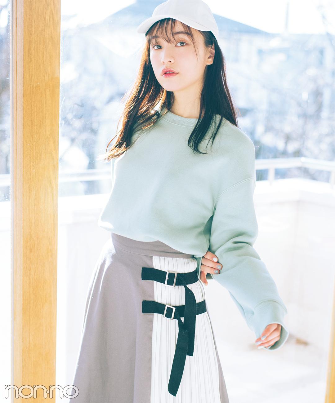 【春のGUコーデ】スモーキーなミントカラーが新鮮!