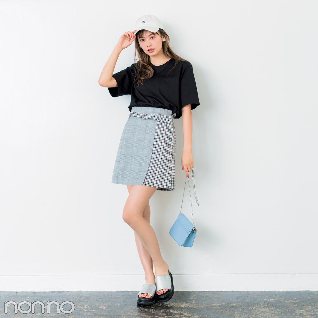 きれいめミニ丈の台形スカート、脚がキレイに見えるコーデはコレ!_1_2-1