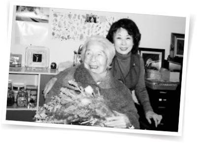 介護中に迎えた母・あぐりさんの103歳の誕生日。