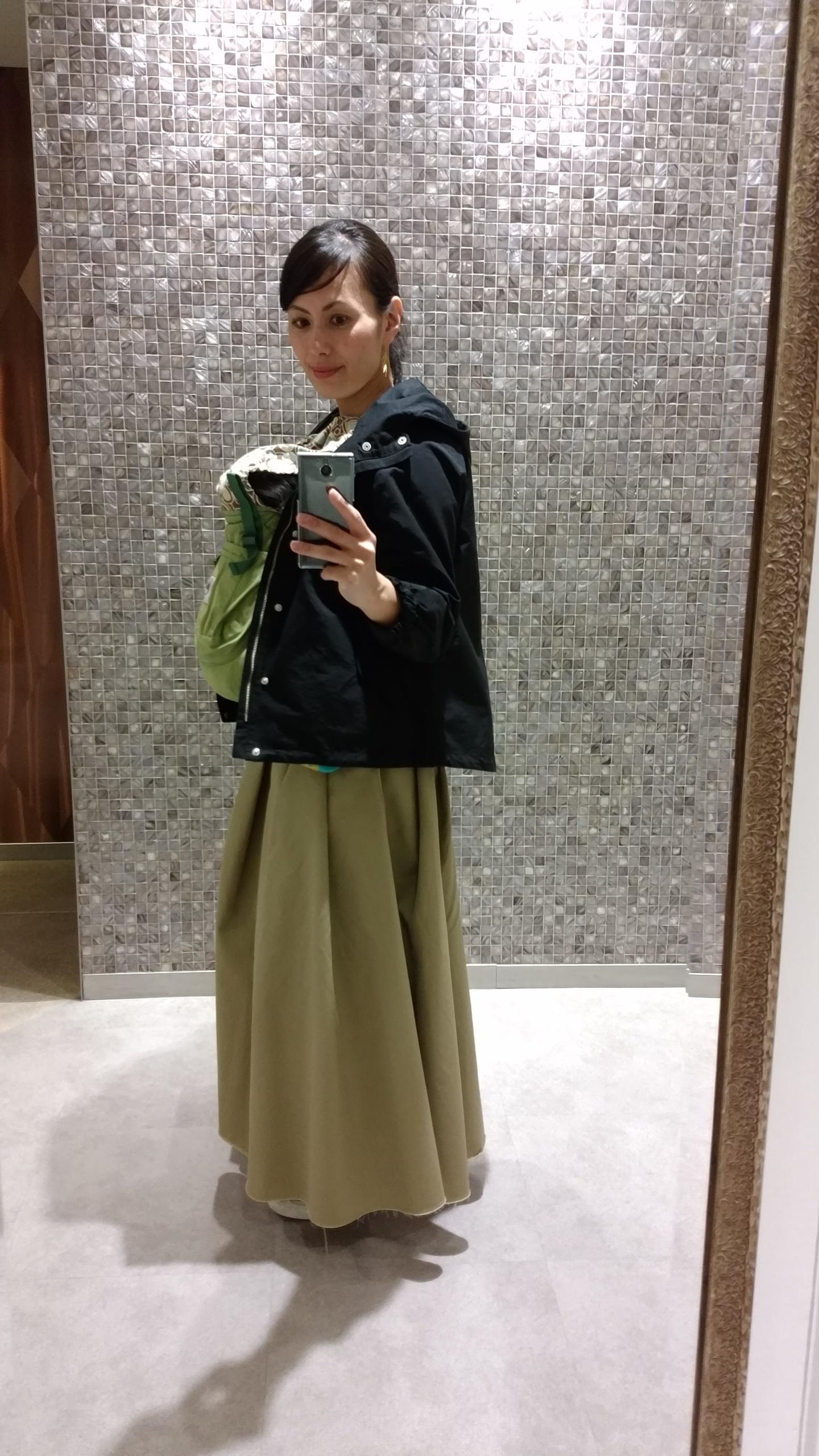 私の春はチノスカートとマウンテンパーカーで☆_1_3