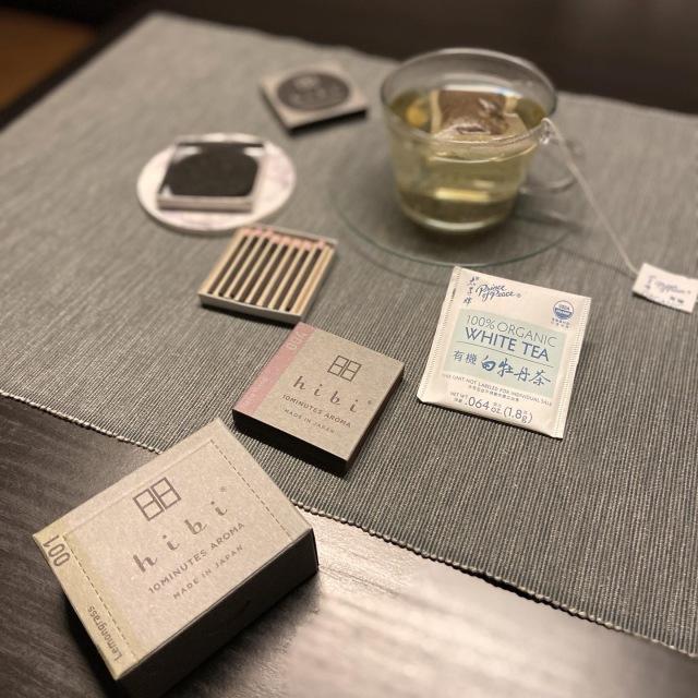 マッチ型お香「hibi」と白茶で夜のリラックスタイム_1_6