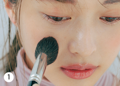 濃い顔さんは桃色ワントーンで、ほわんと可愛いピュア顔に♡【今どきBABYフェイス⑦】_1_9