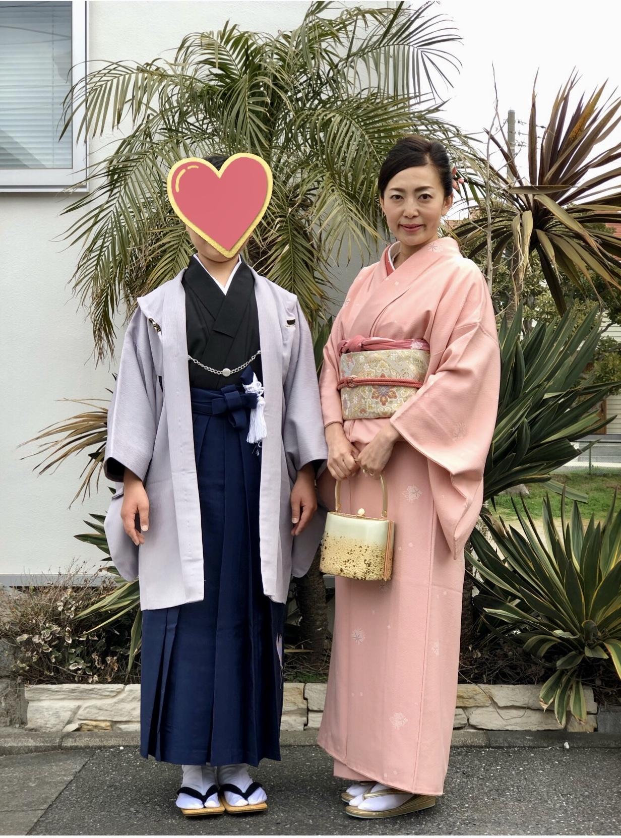 桜色の着物を着て卒業式へ♪_1_5